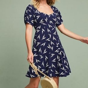 Anthropologie Maeve Navy Floral Dress